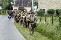 D-Day-Darsteller in voller Montur